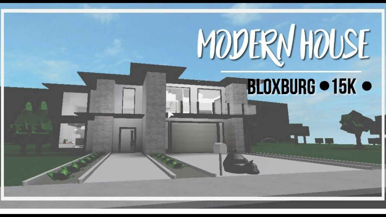 Roblox Bloxburg Modern House 35k YouTube