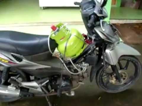 Sepeda Motor menggunakan gas LPG (bagian 3) - YouTube