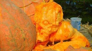 Резьба по тыкве. Карвинг-художественная резьба по овощам и фруктам. Часть №1