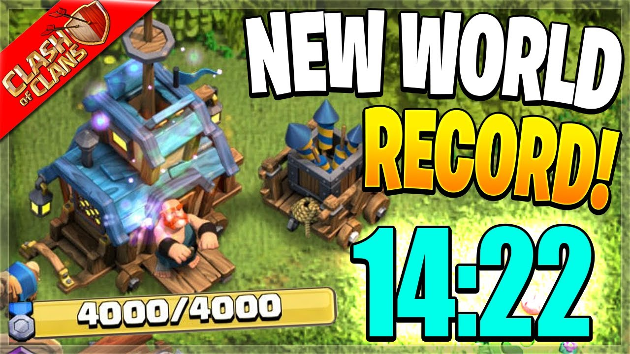 NEW CLAN GAMES SPEED RUN WORLD RECORD! (Clash of Clans)