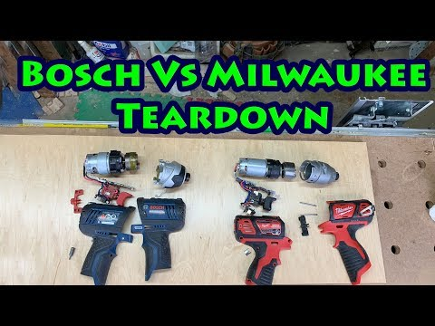 Bosch Vs Milwaukee 12v Impact Driver Teardown Comparison