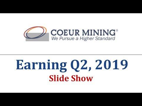 CDE Stock - Coeur Mining, Inc's Earning Data Q2, 2019   Stock Earnings