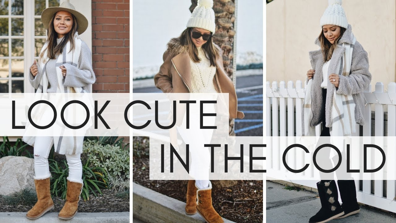 How To Look Cute When It's Cold   Winter Outfits Feat. Koolaburra