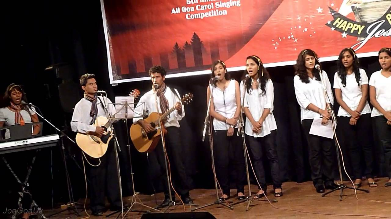Image result for christmas carols singing goa