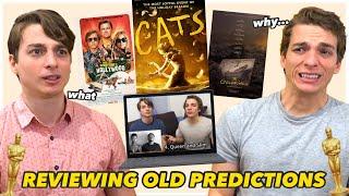 Cringing at Old Oscar Predictions