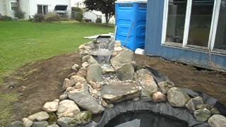 Koi Nursery Demo Pond - Waterfall