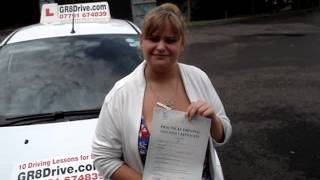 GR8Drive-DRIVING TEST PASS-CHARLOTTE FROM HAREFIELD PASSES  AT PINNER TEST CENTRE