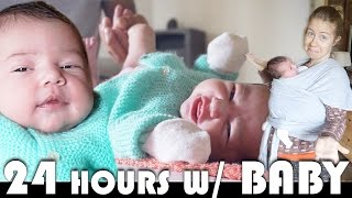 24 HOURS WITH NEWBORN BABY - FAMILY VLOGGERS DAILY VLOG (ADITL EP444)