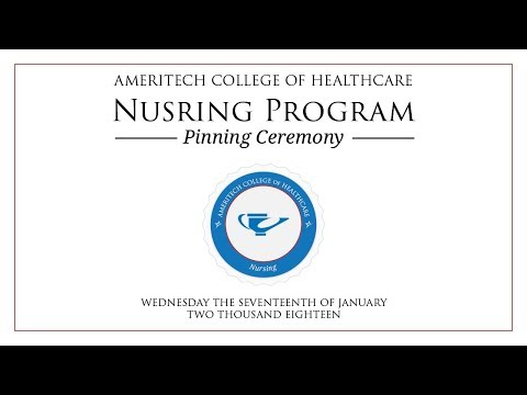 Ameritech College of Healthcare Pinning Ceremony - January 2018