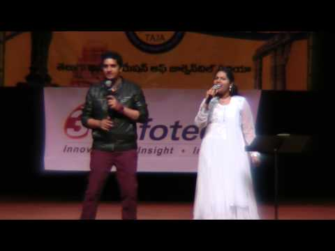 Swetha and KC Singing Dethadi Song from Dookudu