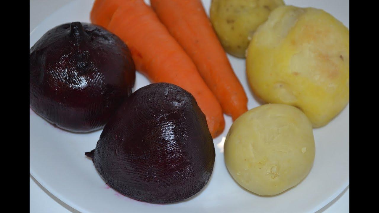 Как запечь овощи в духовке для салата винегрет, селедка под шубой и др.