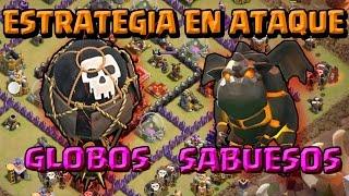 GLOBOS Y SABUESOS: ESTRATEGIA EN ATAQUE TH 9 - A por todas con Clash of Clans - Español - CoC
