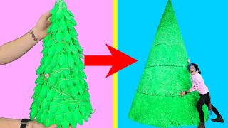 15 FOOT TALL CRAFTMAS TREE! - BUILDING MASSIVE DIY CHRISTMAS TREE OUT OF 15,000 SPOONS!