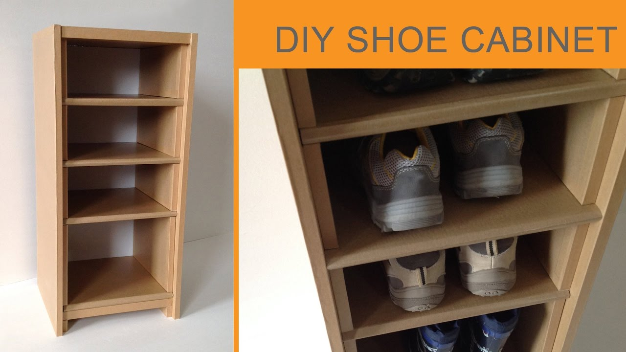 DIY Cardboard Shoe Cabinet: (cardboard Furniture) HD (corrugated Cardboard  Furniture)
