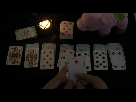 ASMR Playing Patience/Solitaire With Candle Light (no Voice)
