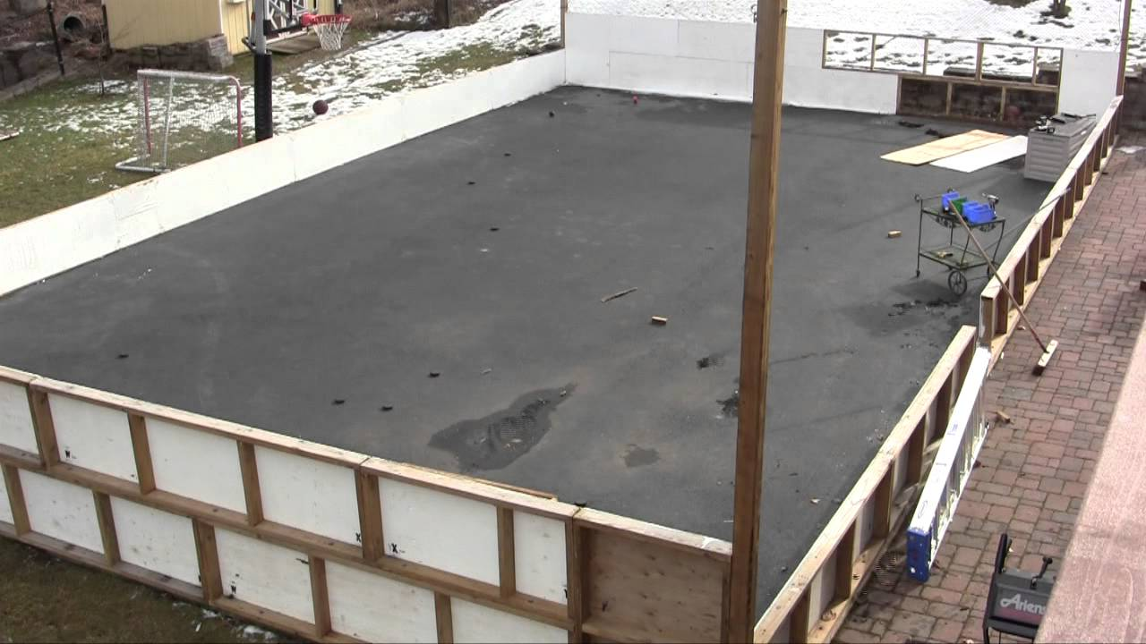 Backyard Rink Boards : Back Yard Hockey Rink  YouTube