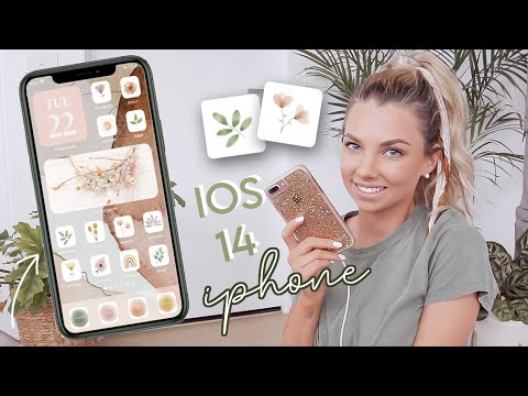 iPhone customization! *iOS 14* Organization tips + aesthetic style
