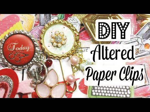 DIY Altered Paper Clips/Planner Clips!
