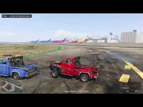GTA 5 ONLINE tow truck tornado