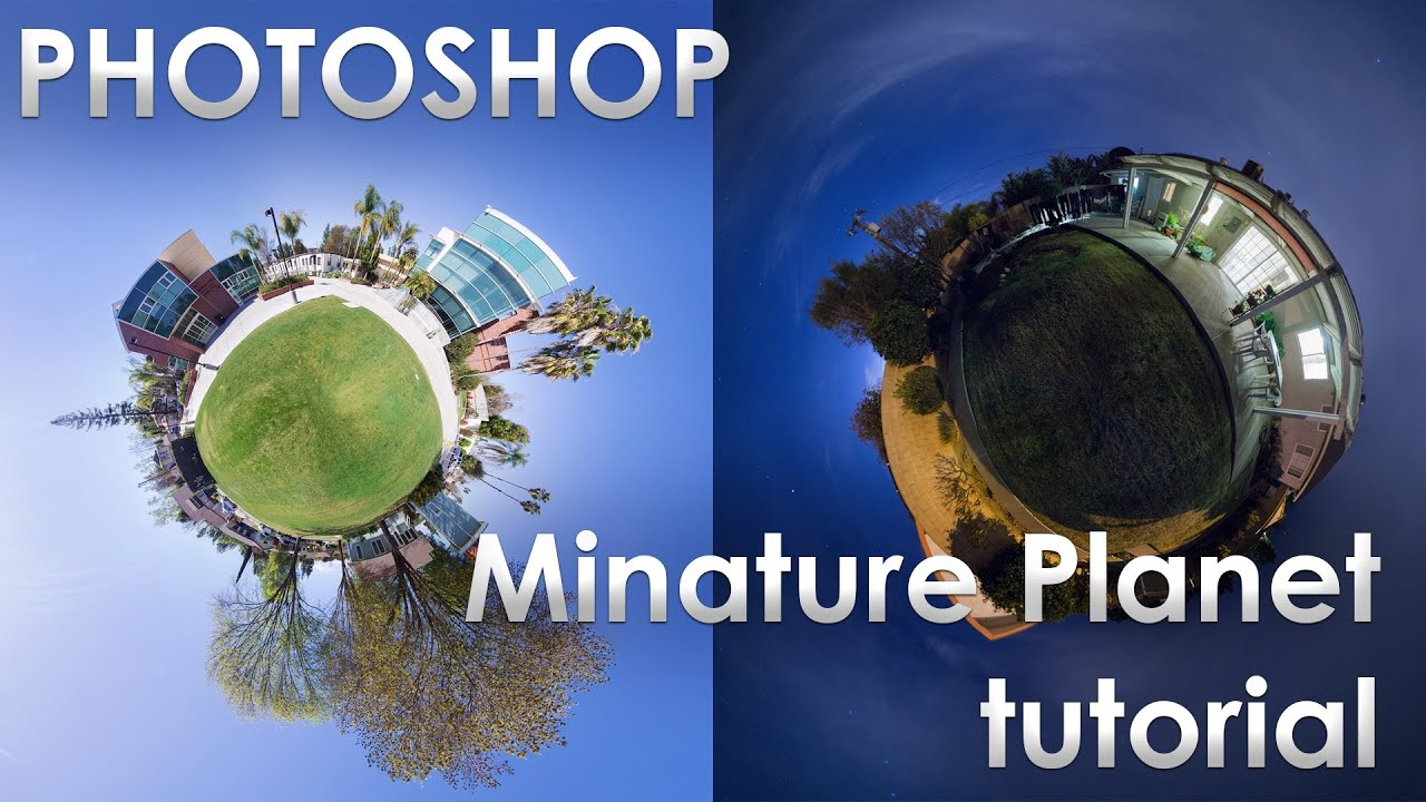 Photoshop - Miniature Planet Complete Tutorial - YouTube