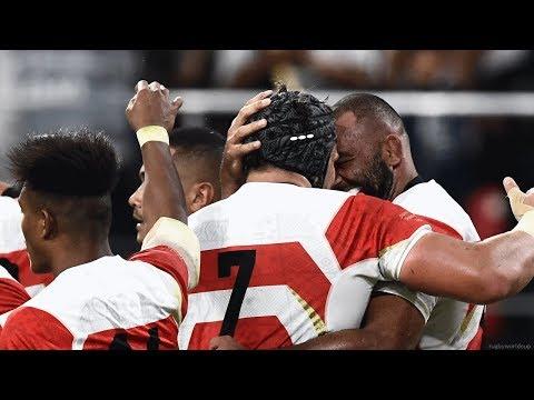 ラクビーW杯 日本がサモアに勝利