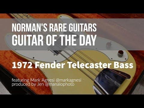 Norman's Rare Guitars - Guitar of the Day: 1972 Fender Telecaster Bass