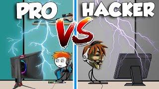 PRO OYUNCU VS HACKER OYUNCU