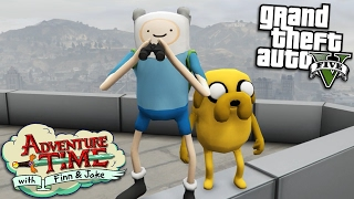 GTA 5 Mods - ADVENTURE TIME MOD w/ FINN & JAKE (GTA 5 PC Mods Gameplay)