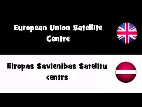 Say it in 20 languages # European Union Satellite Centre