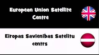 Say it in 20 languages # European Union Satellite Centre