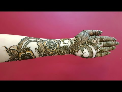 Full Hand Dubai Henna Design For Eid 17 Heena Vahid Youtube