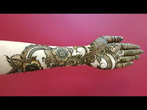 Full Hand Dubai Henna Design For Eid 17 Heena Vahid Youtube