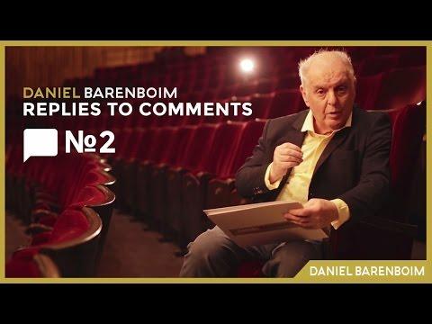 Pop Music & Hidden Talents - Daniel Barenboim | Replies To Comments No.2 [subtitulado]