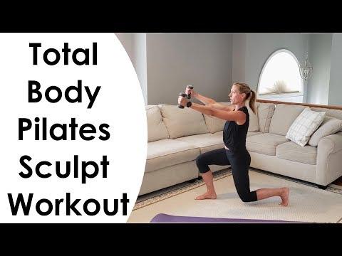 TOTAL BODY PILATES SCULPT WORKOUT (18 MINUTES) Strength & Cardio Blast!