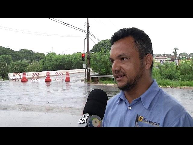 Chuva causa interdição de pontes em Campo Grande