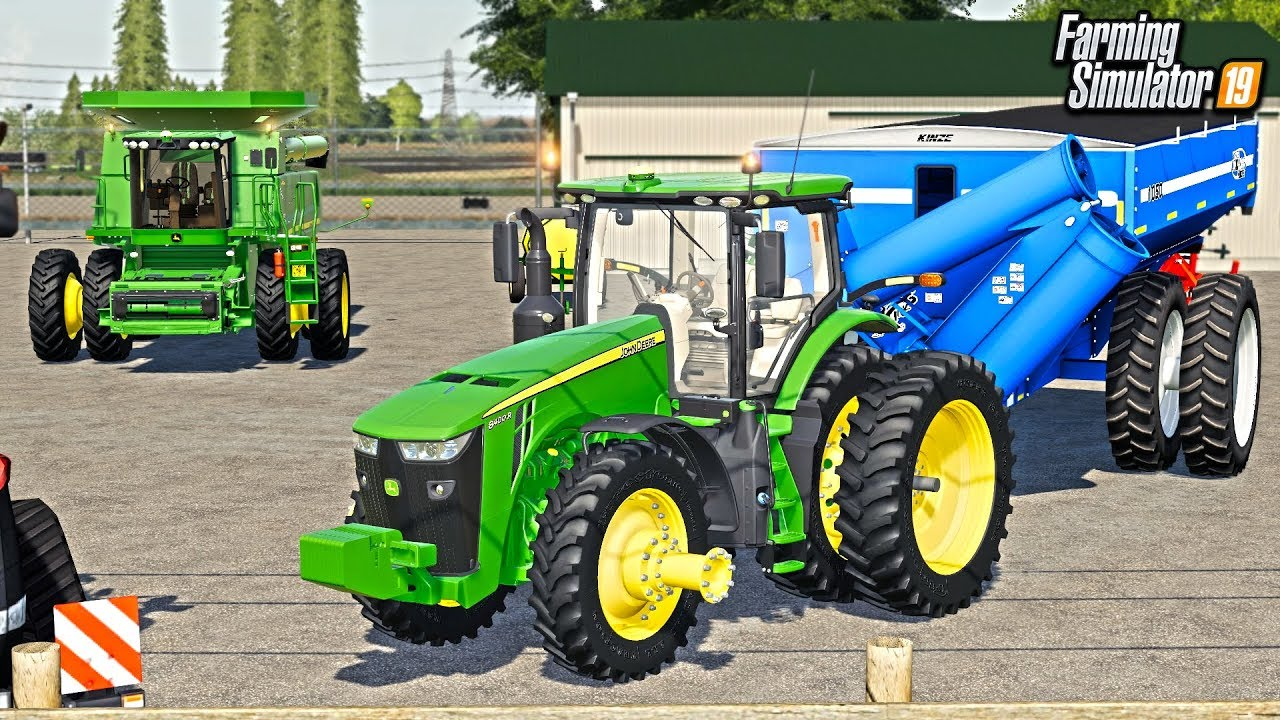 RENTING JOHN DEERE EQUIPMENT TO HARVEST FIELD AT RCC! | FARMING SIMULATOR  2019