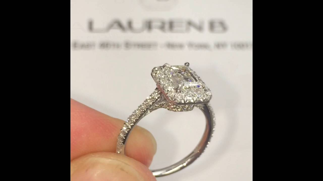 1 Carat Emerald Cut Diamond Engagement Ring