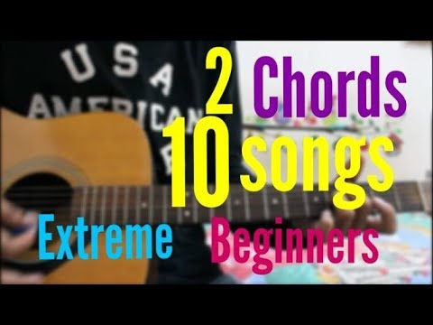 2 Chords / 1 Trick - 10 Songs - BEST Hindi Songs Super Beginners type cover mashup