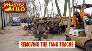 Tank track disassembly (Type 69-II tank)