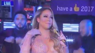 Mariah Carey Sincronización de labios Falla NYE Times Square