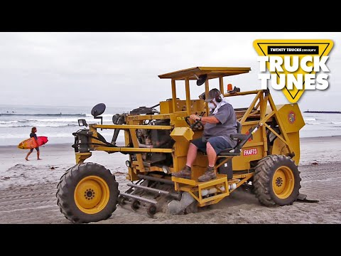 Kids Truck Video - Beach Cleaner