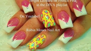 2 Nail Art Designs | DIY Neon Animal Print & Chevron Nails Tutorial