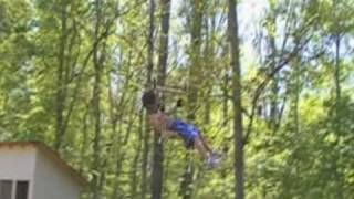 Zipline In The Back Yard
