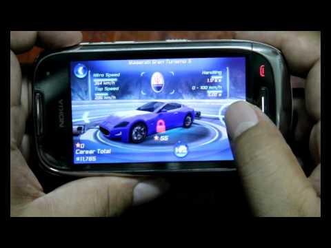 Asphalt 6 : Adrenaline HD on Nokia C7 Symbian Anna OS - Asphalt 6 all car and test racing