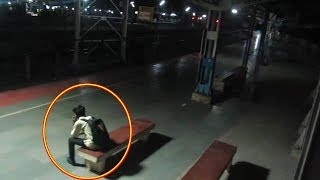 Real Ghost Caught On Camera In Railway Station - Scary - Ghost