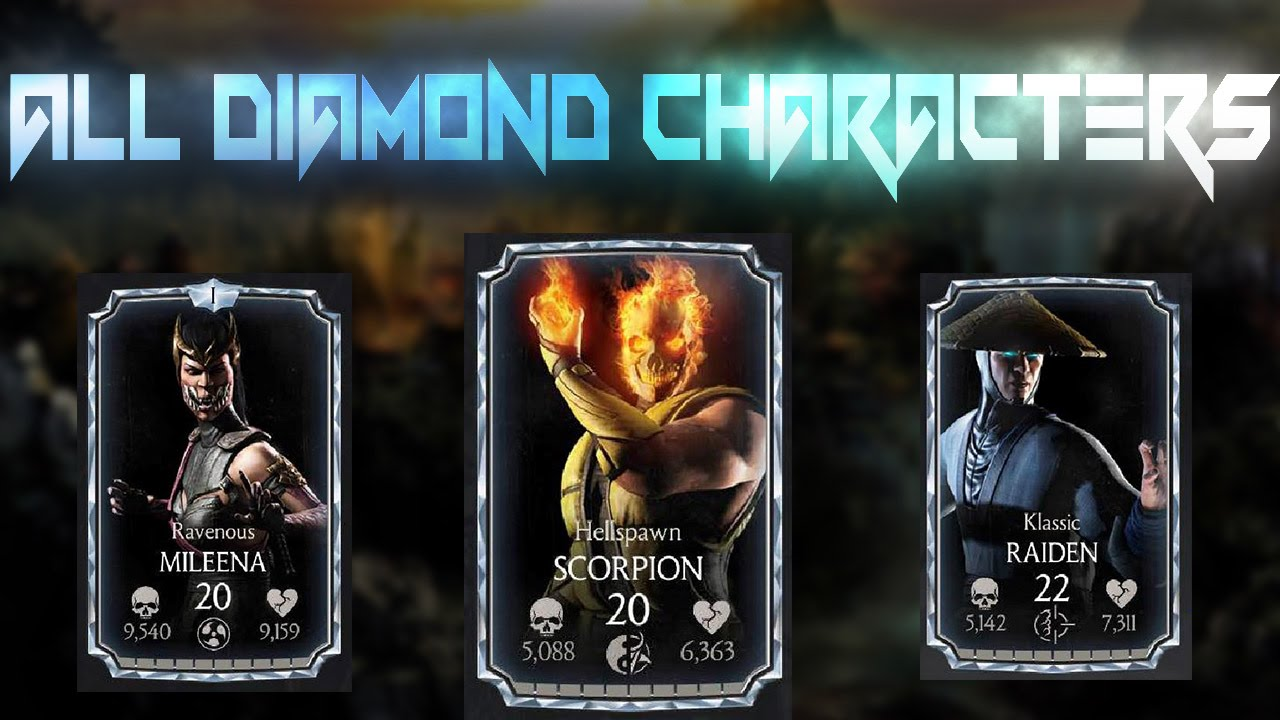 All Diamond Characters Review! Mortal Kombat X 1 9! IOS/Android
