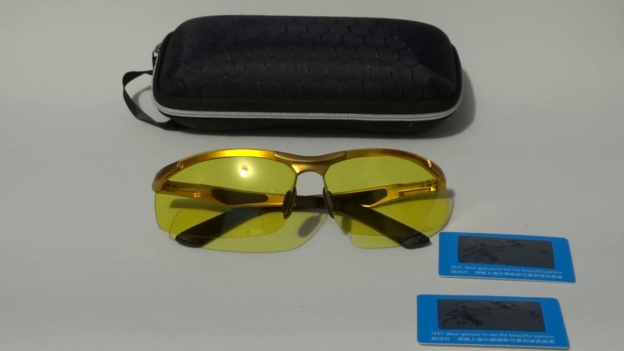 f42dc7eb97f9c Óculos Alumínio Dourado Direção Noturna Polarizado UV400 - YouTube