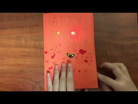 A Paper Circuit Light Up Greeting Card Youtube