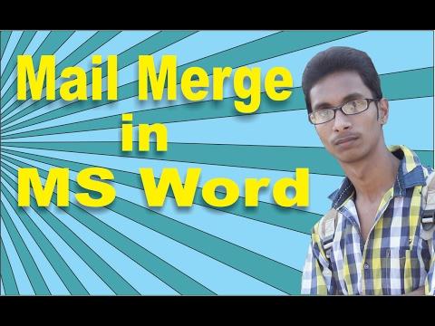 Mail Merge in MS Word Step By Step in Hindi|ms word mail merge Hindi