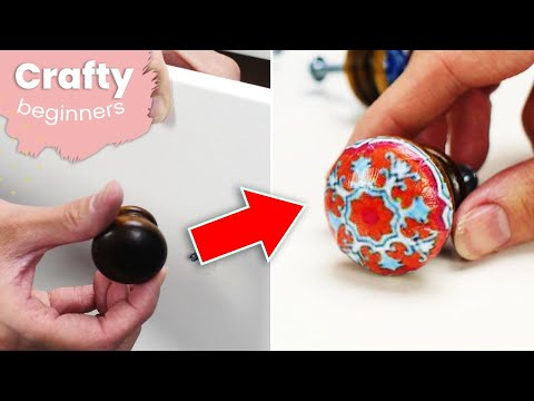 How To Make Cheap DIY Drawer Pulls At Home | Crafty
